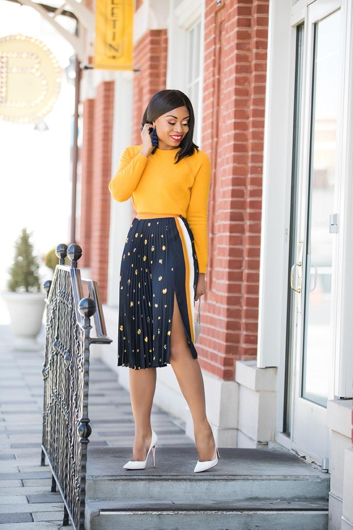 printed pleated skirt, www.jadore-fashion.com