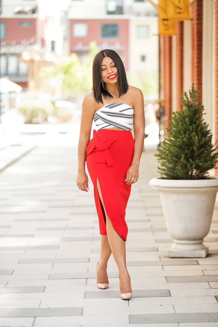 summer style, crop top and pencil skirt, www.jadore-fashion.com