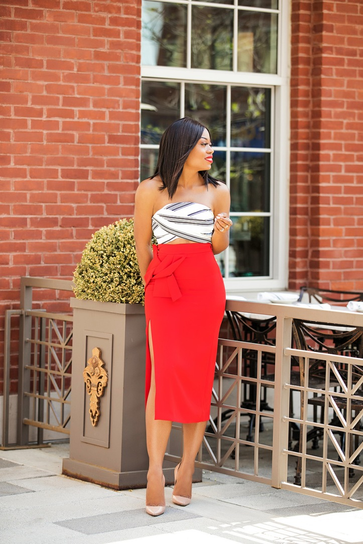 summer date night, crop top and pencil skirt, www.jadore-fashion.com