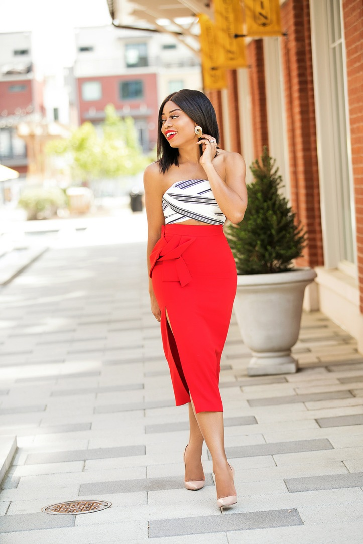 summer date style, crop top and pencil skirt, www.jadore-fashion.com
